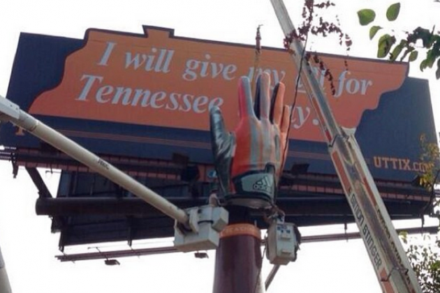 The Tennessee Volunteers Football Program Has a Rather Unique Billboard