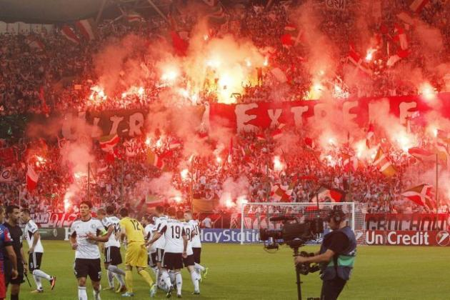 Polish Soccer Fans Set off Fire in the Stands to Protest a UEFA Punishment