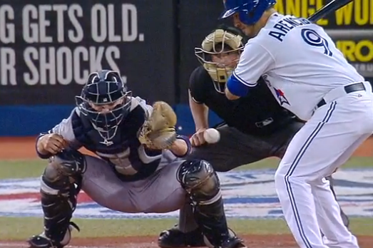 Watch Toronto Blue Jays' J.P. Arencibia Bring Home 2 Runs on a Strikeout