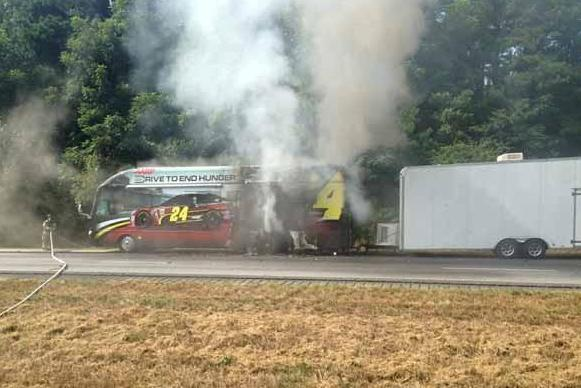 Jeff Gordon Tour Bus Burns on I-85; No Injuries Reported