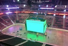 New Pepsi Center Gigantic Scoreboard Taking Shape