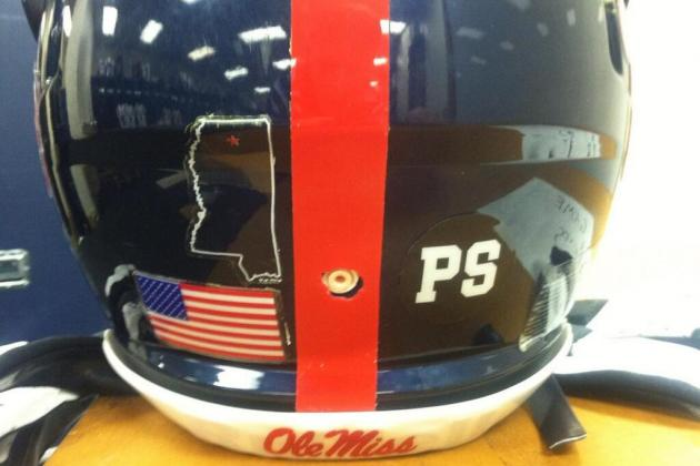 Ole Miss Football Team to Wear Helmet Decals in Memory of Teammate