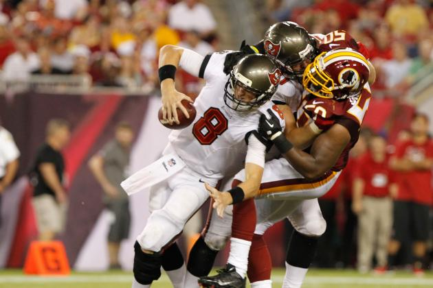 Washington Redskins Linebacker Rob Jackson Tackles Lineman and Quarterback