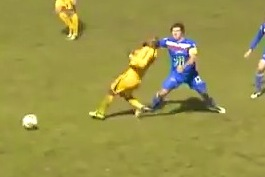 Soccer Player's Devastating Clothesline