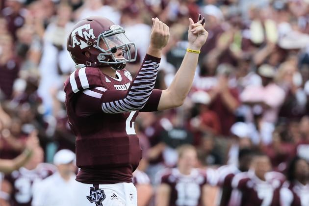 Rice vs. Texas A&M: Grading Johnny Manziel's Week 1 Performance