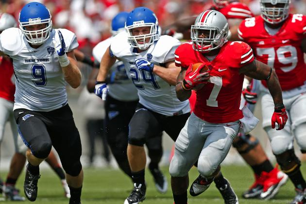 Buffalo vs. Ohio State: Jordan Hall Steals Spotlight from Braxton Miller