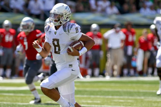 Oregon QB Marcus Mariota: Less Carries, but More Punch