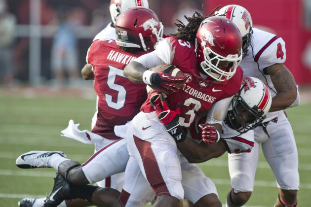 Arkansas Football: Freshman Tailback Alex Collins Shines in 1st Game