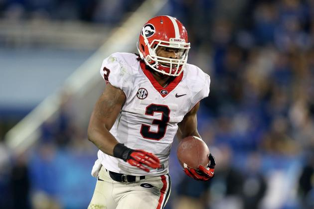 Todd Gurley Injury: Updates on Georgia RB's Thigh, Potential Return Date