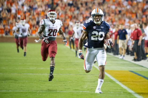 Auburn Football: Rushing Game Makes Statement in Gus Malzahn's Debut