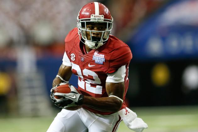 Alabama's Christion Jones Named Walter Camp Offensive Player of the Week