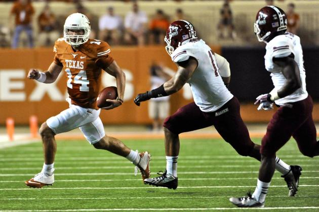 Texas Football: David Ash Shows Flashes of Brilliance in Week 1 Win