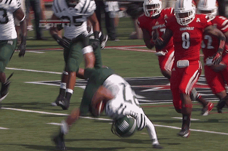 Ohio Bobcat Pulls off the Football Cartwheel