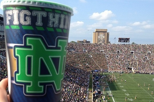 Notre Dame Sells Cups with Spelling Error
