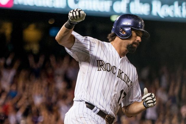 Helton Records 2,500th Career Hit