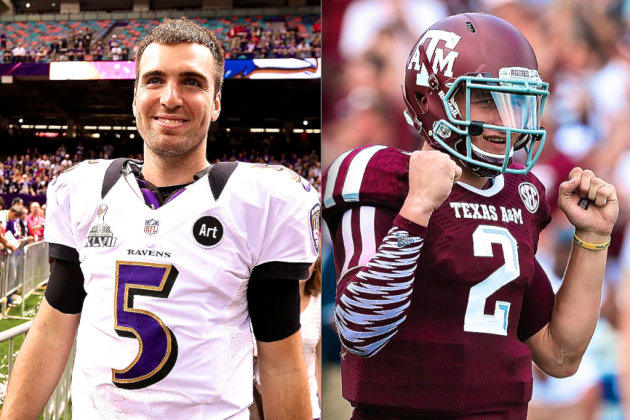 Joe Flacco Says Johnny Manziel Is Becoming His Favorite College Football Player