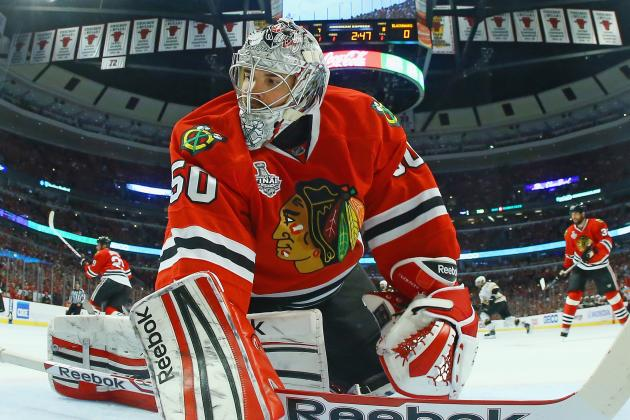 Blackhawks Agree to Terms with G Corey Crawford on 6-Year Deal