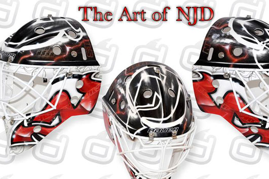 PHOTO: Cory Schneider's New Devils Mask Is Pretty Slick