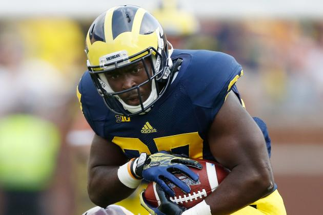 Michigan Moves Freshman RB Derrick Green Up to No. 2 on Its Depth Chart