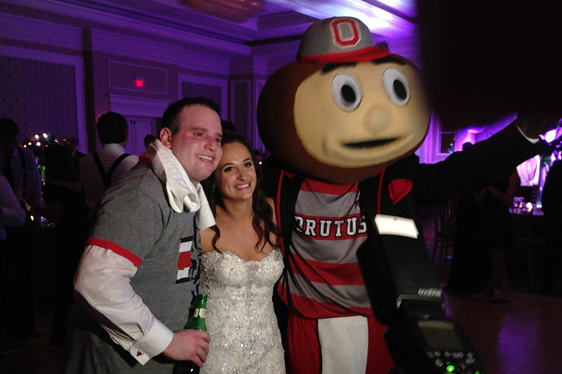 Brutus the Buckeye Crashes a Wedding in Columbus