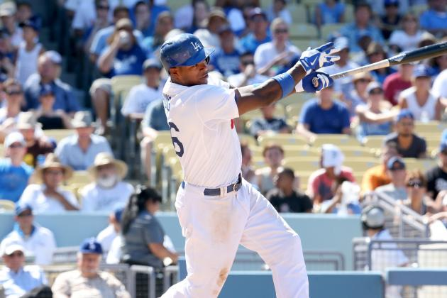 Yasiel Puig Exits Game with Mild Right Knee Strain