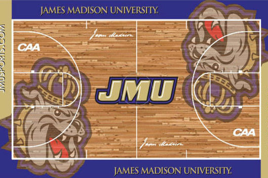 James Madison's New Basketball Floor Features Plenty of Duke Dog