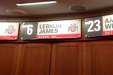Lebron Has Personal Locker at Ohio State