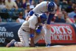 Puig Injures Knee Sliding into 3rd Base