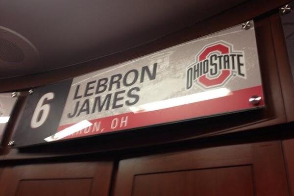 Photos: LeBron James Has His Own Locker at Ohio State's New Basketball Facility