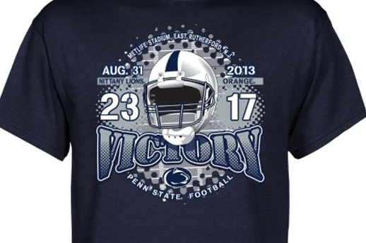 PSU Celebrates Win with T-Shirts?