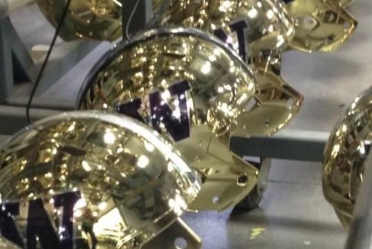 Huskies' New Helmets Are Blinding