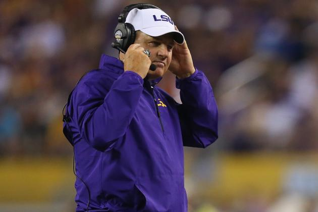LSU Coach Les Miles Still Mum on Jeremy Hill's Status