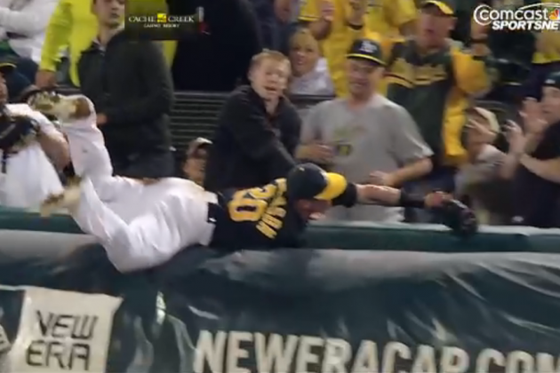 Watch Josh Donaldson Make Eye-Popping Catch over Tarp in Foul Territory