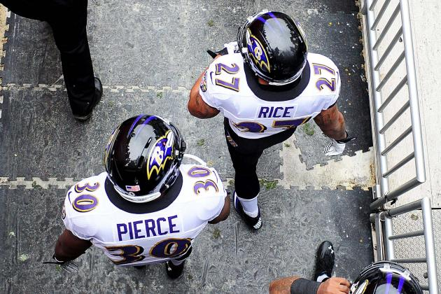 Harbaugh: No Set Carries for Rice and Pierce