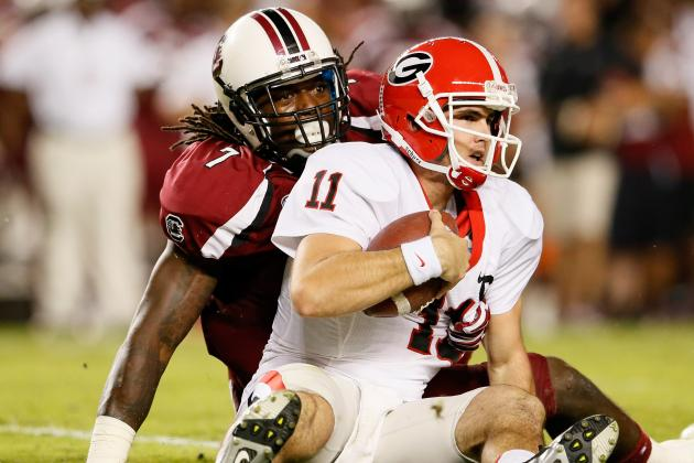 Aaron Murray Discusses Matchup with Jadeveon Clowney