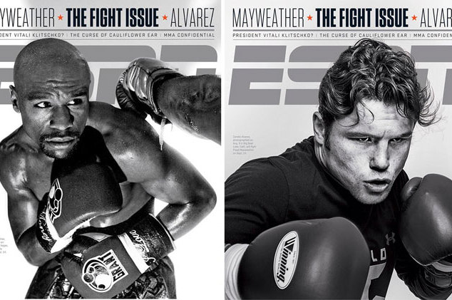 Floyd Mayweather and Canelo Alvarez Appear on Covers of ESPN the Magazine