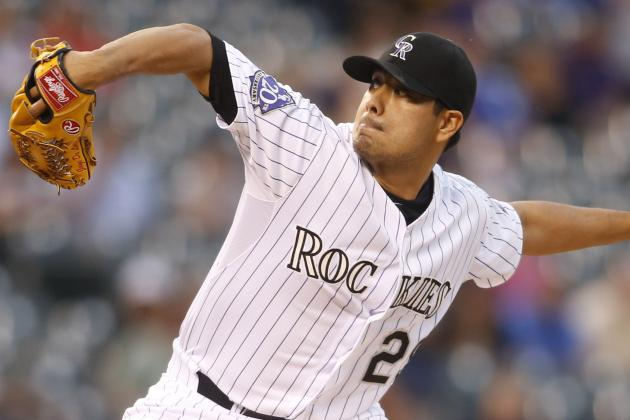Rockies' De La Rosa Wins 16th, Ties NL Lead
