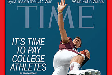 Johnny Manziel Graces Time Magazine Cover for Story About Paying NCAA Athletes