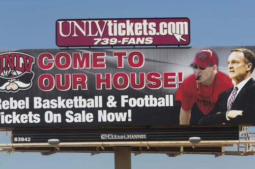 Billboard Mistake Gives Rebels Coach a Laugh
