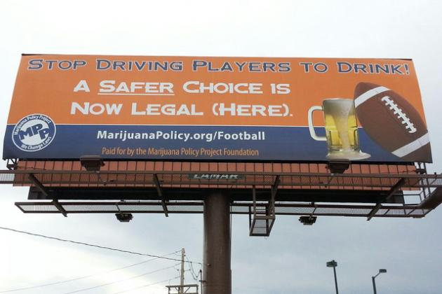 Marijuana Advocacy Group Places Pro-Pot Billboard Outside Denver Broncos Stadium