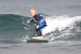 Surfing 3-Year-Old from SLO Is 'Just a Natural,' Dad Says