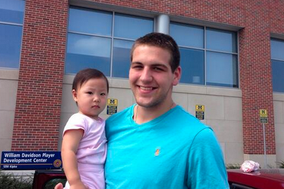 McGary Poses with Adorable Baby