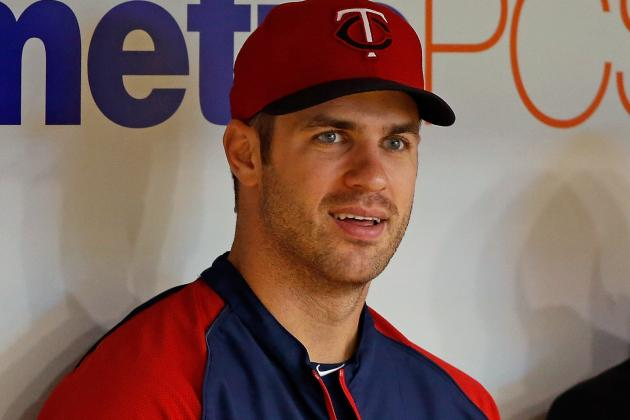 Joe Mauer Not Progressing from Concussion as Hoped
