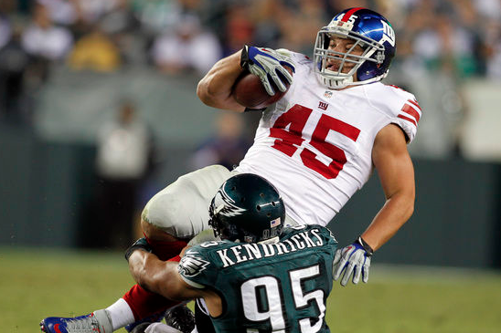 Giants FB Henry Hynoski to Likely Miss the Opener vs. Cowboys