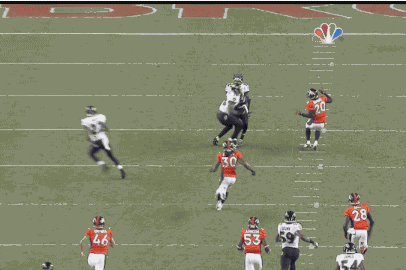 Ravens' Jacoby Jones Gets Taken out by His Own Teammate
