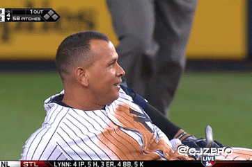 Alex Rodriguez Does Face-Plant With Belly Flop Slide, Poses for Teammates