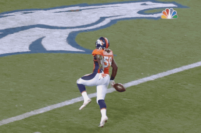 Danny Trevathan Picks Off Joe Flacco,  Drops the Ball Before Crossing Goal Line
