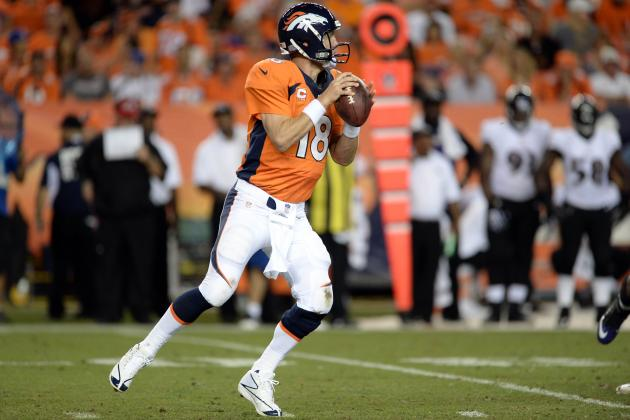 Grading Peyton Manning in Week 1 Showdown Against Baltimore Ravens