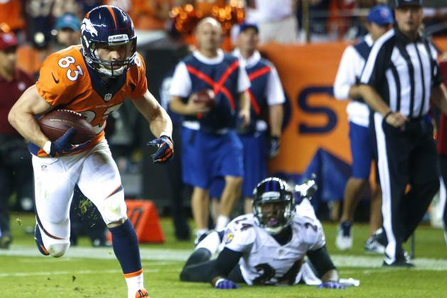 Wes Welker Erases Concerns of 2013 Fantasy Letdown in Opening-Night Blowout