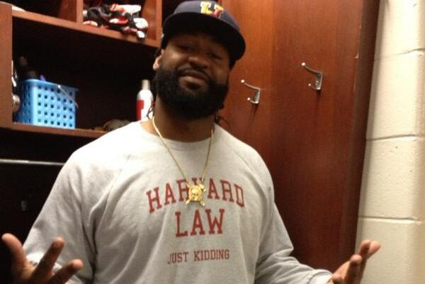Brandon Spikes Reps His School...Sort Of